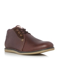Original Penguin Legal Leather Lace Up Desert Boots Brown