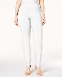 Alfani Plus Size Pull On Skinny Pants Only At Macy's Bright White