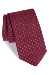 Men's Eton Floral Linen And Silk Tie Pink
