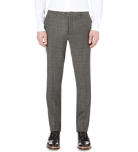Etro Prince Of Wales Checked Trousers Green Multi