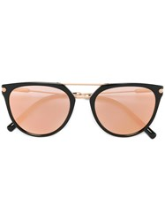 Bulgari Round Framed Sunglasses Black