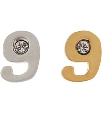 Marc Jacobs Coin 9 Stud Earrings Gold Multi