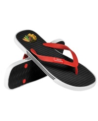 Forever Collectibles Chicago Blackhawks Thong Sandals