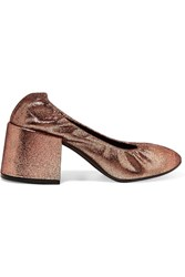 Maison Martin Margiela Mm6 Metallic Textured Leather Pumps Copper