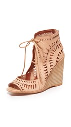 Jeffrey Campbell Rodillo Wedge Sandals Nude