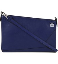 Loewe Puzzle Leather Pouch Navy Blue