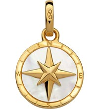 Links Of London 18Ct Yellow Gold Vermeil And Mother Pearl Compass Charm