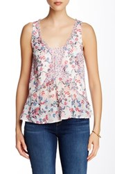 French Connection Water Garden Sleeveless Blouse Multi