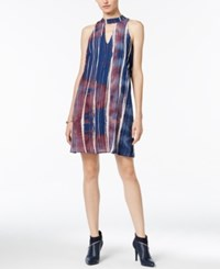 Bar Iii Printed Cutout Shift Dress Only At Macy's Ink Spill