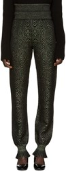Lanvin Green Metallic Lounge Pants