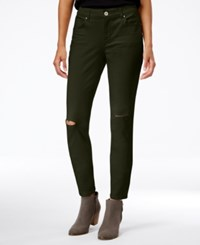 Styleandco. Style Co. Ripped Colored Wash Skinny Jeans Only At Macy's Evening Olive
