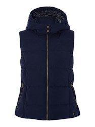 Dickins And Jones Gilet With Detachable Hood Navy