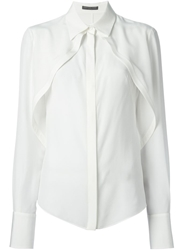 Alexander Mcqueen Pleated Blouse White