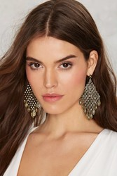 Nasty Gal Metal Order Drop Earrings