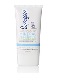 Skin Soothing Mineral Sunscreen With Olive Polyphenols Spf 40 2.4 Oz. Supergoop Olive Green