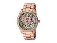 Betsey Johnson Bj00048 147 Abalone Optical Dial Rose Gold Abalone Watches