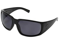 Von Zipper Palooka Polarized Black Gloss Vintage Grey Wildlife Sport Sunglasses Navy