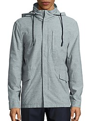 James Perse Cotton Knit Jacket Heather Grey
