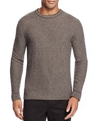 Bloomingdale's The Men's Store At Wool And Cashmere Blend Crewneck Sweater Coal Granite Lt Heather Brown