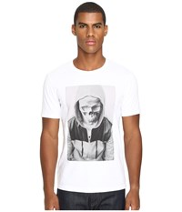The Kooples Sport Hooded Skull Print T Shirt White Men's T Shirt