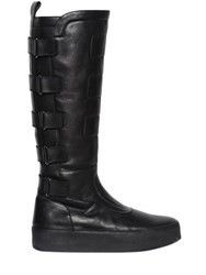 Bikkembergs 40Mm High Biker Leather Boots