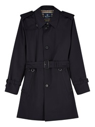 Aquascutum London Aquascutum Corby Single Breasted Trench Coat Navy
