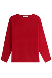 Max Mara Virgin Wool Pullover With Cashmere Red