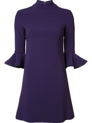 Amen Ruffled Sleeves Dress Pink And Purple