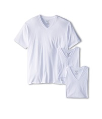 Original Penguin 100 Cotton 3 Pack V Neck Tee White Men's T Shirt