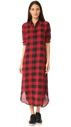 Bb Dakota Dunkirk Buffalo Plaid Shirtdress Zion Red