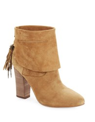 Sigerson Morrison Suede Cuffed Ankle Boots Cognac