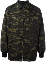 Alexander Wang Oversized Camouflage Jacket Green