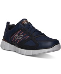 Skechers Men's On Track Wide Width Running Sneakers From Finish Line Navy Orange
