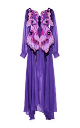 Yuliya Magdych Butterfly With Eyes T Shirt Maxi Dress Purple