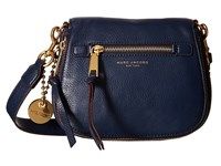 Marc Jacobs Recruit Small Saddle Bag Navy Blue Handbags