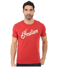 Lucky Brand Indian Logo Alone Graphic Tee Pomeian Red Men's T Shirt