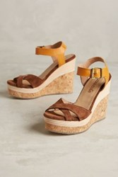 Anthropologie Cubanas Stela Wedges Honey 36 Euro Wedges
