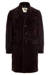 Burberry London Sheepskin Coat Brown