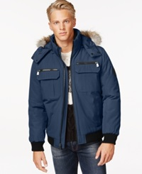 Calvin Klein Bomber Jacket With Faux Fur Hood