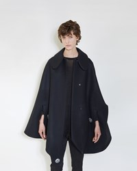 Simone Rocha Bonded Wool Cape Black