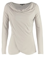 Comma Long Sleeved Top Cream Sand