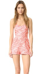 Jack By Bb Dakota Adale Romper Hot Coral