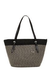 Magid Two Tone Large Tote Black