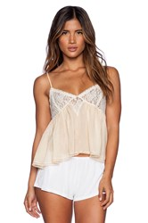 Free People Sweet Lace Cami Peach