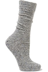 Etoile Isabel Marant Deemer Melange Knitted Socks Gray