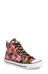 Women's Converse Chuck Taylor All Star Andy Warhol Collection High Top Red Fuchsia Purple Canvas