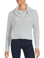 State Of Being Cropped Cowl Neck Sweater Grey