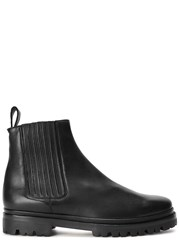 Helmut Lang Black Leather Chelsea Boots