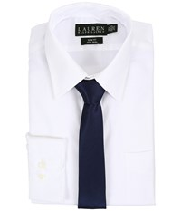 Lauren Ralph Lauren Pinpoint Point Collar Slim Button Down Shirt White Men's Long Sleeve Button Up