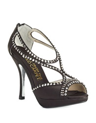 Elive From The Red Carpet Alice Satin Platform Stilettos Black